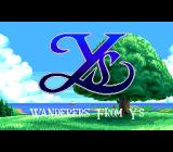 Ys III: Wanderers from Ys TurboGrafx CD Intro Title