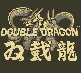 Double Dragon Game Boy Title Screen