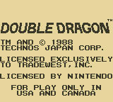 Double Dragon Game Boy Publisher/Developer