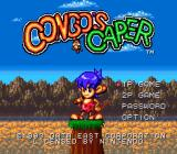 Congo's Caper SNES Title screen.