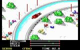 The Games: Winter Edition DOS Luge - rounding a turn... (EGA/MCGA/Tandy)