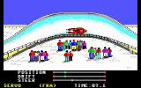 The Games: Winter Edition DOS Luge - audience watches... (EGA/MCGA/Tandy)