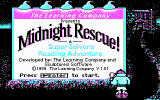 Super Solvers: Midnight Rescue! DOS title screen - CGA
