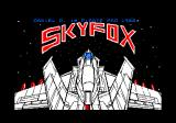 Skyfox Amstrad CPC Title screen