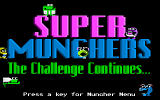 Super Munchers: The Challenge Continues... DOS title screen - MCGA/VGA