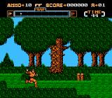 Gotcha! The Sport! NES Woods level against camo'ed enemies