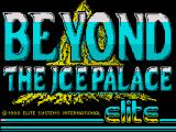Beyond the Ice Palace ZX Spectrum Loading screen