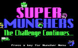 Super Munchers: The Challenge Continues... DOS title screen - EGA