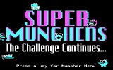 Super Munchers: The Challenge Continues... DOS title screen - CGA
