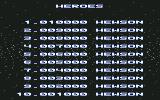 Netherworld Commodore 64 High scores