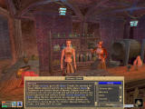The Elder Scrolls III: Morrowind Windows Blue keywords mark topics in conversations with NPCs