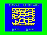 The Phantom Slayer TRS-80 CoCo Map and score screen - you see this when you start, die or use the teleporter square