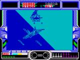 After Burner ZX Spectrum The spectrum version doesn't allow you to fire the cannon as it fires constantly so you just need to point the plane at the enemy