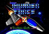 Thunder Force II Genesis Title Screen