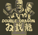 Double Dragon II: The Revenge Game Boy Title Screen