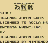 Double Dragon II: The Revenge Game Boy Publisher/Developer Info