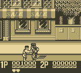 Double Dragon II: The Revenge Game Boy First Level: a city street