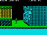 Contra ZX Spectrum The first boss is a wall that need destroying