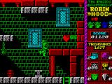 Robin Hood: Legend Quest ZX Spectrum Use the spring board to reach the higher platform