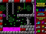 Robin Hood: Legend Quest ZX Spectrum Falling into the ooze kills Robin and he explodes in a shower of hearts