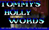 Tommy's Hollywords DOS Title screen