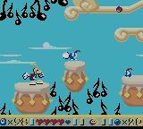 Rayman Game Boy Color Hitting an enemy