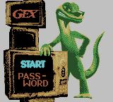 Gex: Enter the Gecko Game Boy Color Menu