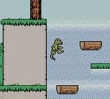 Gex: Enter the Gecko Game Boy Color Jumping on the moving log