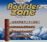 Boarder Zone Game Boy Color Menu