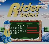 Boarder Zone Game Boy Color Rider select