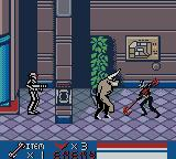 Batman Beyond: Return of the Joker Game Boy Color Using the Staff to fight