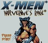 X-Men: Wolverine's Rage Game Boy Color Title screen