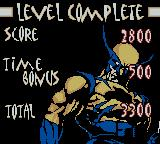 X-Men: Wolverine's Rage Game Boy Color Level complete screen