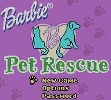 Barbie: Pet Rescue Game Boy Color Title screen