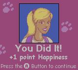 Barbie Pet Rescue CD ROM Game Boy Color Raising the pet's happiness after successfully completing a mini-game
