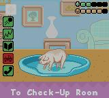 Barbie Pet Rescue CD ROM Game Boy Color The pig on the Play Room - its condition isn't very well