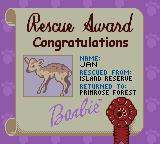Barbie Pet Rescue CD ROM Game Boy Color When done you get a certificate