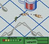 Army Men II Game Boy Color Enemies in the kitchen