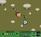Army Men II Game Boy Color Killing an enemy soldier with a grenade