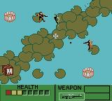 Army Men II Game Boy Color Passing through a minefield while two tan soldiers are trying to kill you