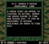Army Men: Sarge's Heroes 2 Game Boy Color Mission objective
