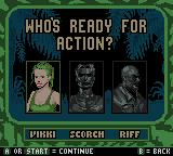 Army Men: Sarge's Heroes 2 Game Boy Color Selecting a character for the mission