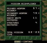 Army Men: Sarge's Heroes 2 Game Boy Color Mission stats