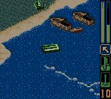 Army Men: Sarge's Heroes 2 Game Boy Color The hovercraft on the sea...