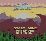 The Land Before Time Game Boy Color Title screen