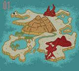 The Land Before Time Game Boy Color Map