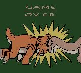 The Land Before Time Game Boy Color Game over