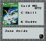 Monster Rancher BattleCard GB Game Boy Color Each card represents an attack a certain monster can do so if you try it on another or if this monster is dead the card is useless