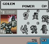 Monster Rancher BattleCard GB Game Boy Color The opponent choosing his attack pattern