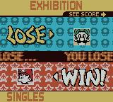Mario Tennis Game Boy Color Losing the game